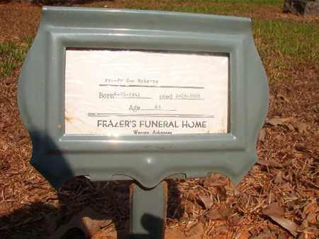 ROBERTS, FREDDY JOE - Calhoun County, Arkansas | FREDDY JOE ROBERTS - Arkansas Gravestone Photos