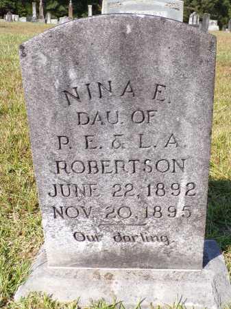 ROBERTSON, NINA E - Calhoun County, Arkansas   NINA E ROBERTSON - Arkansas Gravestone Photos