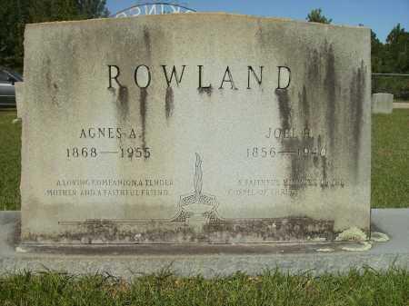 ROWLAND, AGNES A - Calhoun County, Arkansas   AGNES A ROWLAND - Arkansas Gravestone Photos