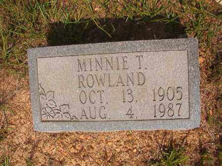 TUBERVILLE ROWLAND, MINNIE VIOLA - Calhoun County, Arkansas | MINNIE VIOLA TUBERVILLE ROWLAND - Arkansas Gravestone Photos