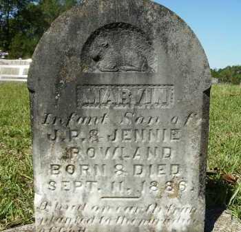 ROWLAND, MARVIN - Calhoun County, Arkansas   MARVIN ROWLAND - Arkansas Gravestone Photos