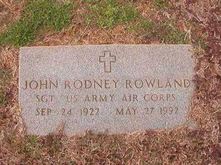 ROWLAND (VETERAN), JOHN RODNEY - Calhoun County, Arkansas   JOHN RODNEY ROWLAND (VETERAN) - Arkansas Gravestone Photos