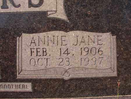 SANDERS, ANNIE JANE (CLOSE UP) - Calhoun County, Arkansas   ANNIE JANE (CLOSE UP) SANDERS - Arkansas Gravestone Photos