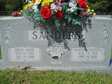 GREENING SANDERS, MARION - Calhoun County, Arkansas | MARION GREENING SANDERS - Arkansas Gravestone Photos