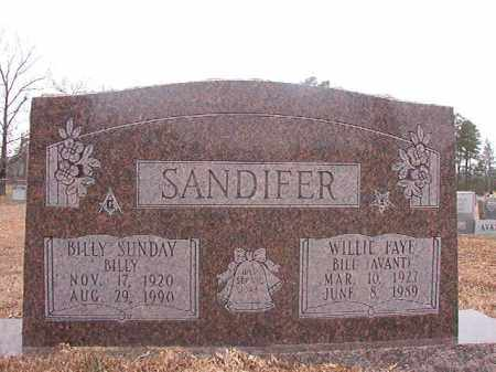 SANDIFER, WILLIE FAYE - Calhoun County, Arkansas | WILLIE FAYE SANDIFER - Arkansas Gravestone Photos