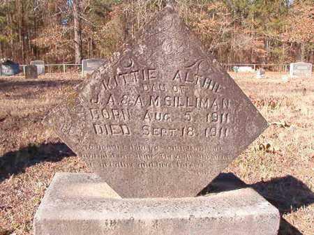 SILLIMAN, KITTIE ALTHIE - Calhoun County, Arkansas | KITTIE ALTHIE SILLIMAN - Arkansas Gravestone Photos