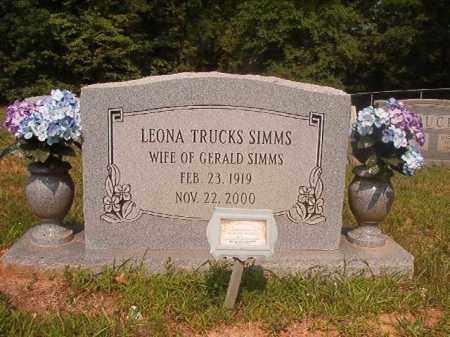 TRUCKS SIMMS, LEONA - Calhoun County, Arkansas | LEONA TRUCKS SIMMS - Arkansas Gravestone Photos