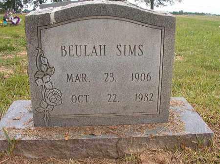 SIMS, BEULAH - Calhoun County, Arkansas | BEULAH SIMS - Arkansas Gravestone Photos