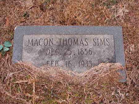 SIMS, MACON THOMAS - Calhoun County, Arkansas | MACON THOMAS SIMS - Arkansas Gravestone Photos