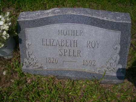 ROY SPEER, ELIZABETH - Calhoun County, Arkansas | ELIZABETH ROY SPEER - Arkansas Gravestone Photos
