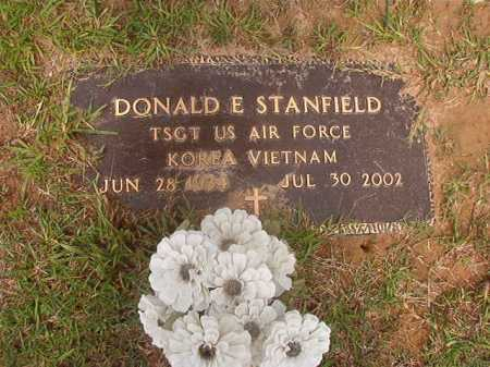 STANFIELD (VETERAN 2 WARS), DONALD E - Calhoun County, Arkansas | DONALD E STANFIELD (VETERAN 2 WARS) - Arkansas Gravestone Photos