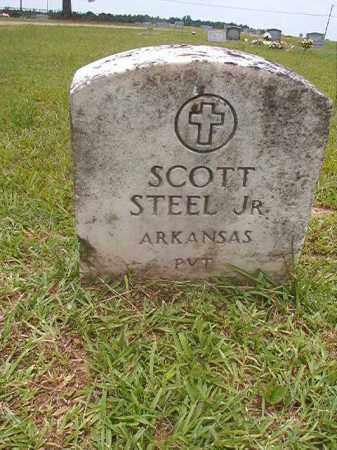 STEEL, JR (VETERAN), SCOTT - Calhoun County, Arkansas | SCOTT STEEL, JR (VETERAN) - Arkansas Gravestone Photos
