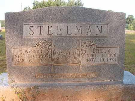 STEELMAN, CORNELIUS WHITE (NEIL) - Calhoun County, Arkansas | CORNELIUS WHITE (NEIL) STEELMAN - Arkansas Gravestone Photos
