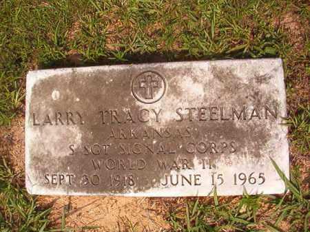 STEELMAN (VETERAN WWII), LARRY TRACY - Calhoun County, Arkansas   LARRY TRACY STEELMAN (VETERAN WWII) - Arkansas Gravestone Photos