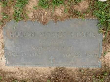 STONE (VETERAN WWII), HULON MORRIS - Calhoun County, Arkansas   HULON MORRIS STONE (VETERAN WWII) - Arkansas Gravestone Photos