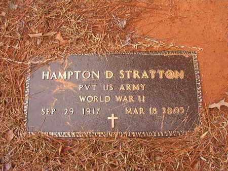 STRATTON (VETERAN WWII), HAMPTON D - Calhoun County, Arkansas | HAMPTON D STRATTON (VETERAN WWII) - Arkansas Gravestone Photos