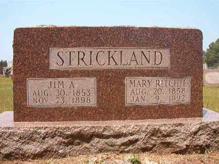 RITCHIE STRICKLAND, MARY - Calhoun County, Arkansas | MARY RITCHIE STRICKLAND - Arkansas Gravestone Photos