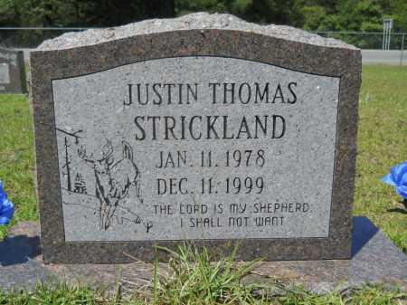 STRICKLAND, JUSTIN THOMAS - Calhoun County, Arkansas | JUSTIN THOMAS STRICKLAND - Arkansas Gravestone Photos