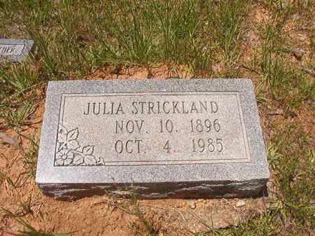STRICKLAND, JULIA - Calhoun County, Arkansas   JULIA STRICKLAND - Arkansas Gravestone Photos