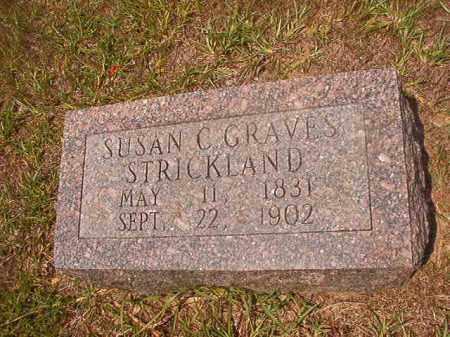GRAVES STRICKLAND, SUSAN C - Calhoun County, Arkansas   SUSAN C GRAVES STRICKLAND - Arkansas Gravestone Photos