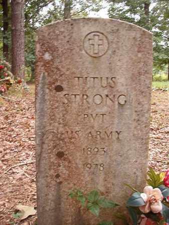STRONG (VETERAN), TITUS - Calhoun County, Arkansas   TITUS STRONG (VETERAN) - Arkansas Gravestone Photos