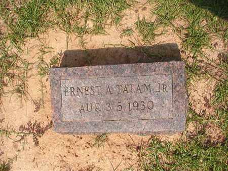 TATAM, JR, ERNEST A - Calhoun County, Arkansas   ERNEST A TATAM, JR - Arkansas Gravestone Photos