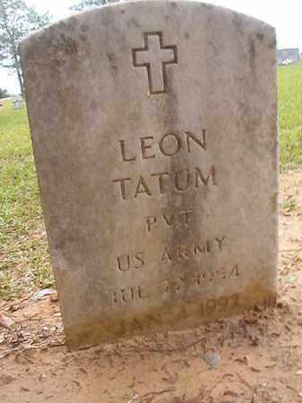 TATUM (VETERAN), LEON - Calhoun County, Arkansas | LEON TATUM (VETERAN) - Arkansas Gravestone Photos