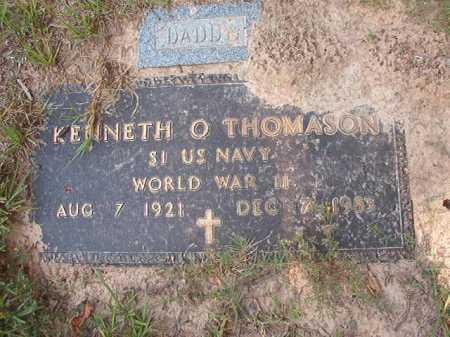 THOMASON (VETERAN WWII), KENNETH O - Calhoun County, Arkansas   KENNETH O THOMASON (VETERAN WWII) - Arkansas Gravestone Photos