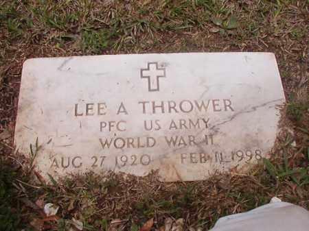 THROWER (VETERAN WWII), LEE A - Calhoun County, Arkansas   LEE A THROWER (VETERAN WWII) - Arkansas Gravestone Photos