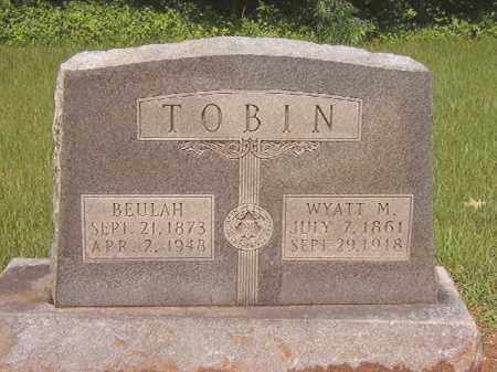 TOBIN, WYATT M - Calhoun County, Arkansas | WYATT M TOBIN - Arkansas Gravestone Photos