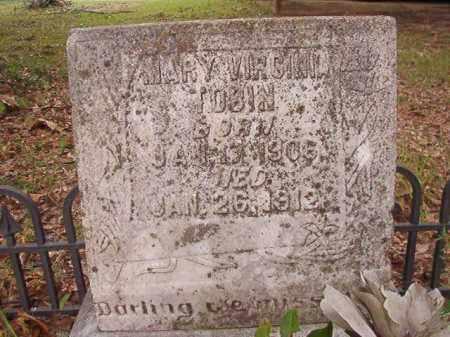 TOBIN, MARY VIRGINIA - Calhoun County, Arkansas   MARY VIRGINIA TOBIN - Arkansas Gravestone Photos