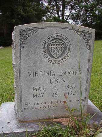 BARKER TOBIN, VIRGINIA - Calhoun County, Arkansas | VIRGINIA BARKER TOBIN - Arkansas Gravestone Photos