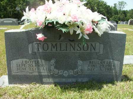 TOMLINSON, J DOYLE - Calhoun County, Arkansas   J DOYLE TOMLINSON - Arkansas Gravestone Photos