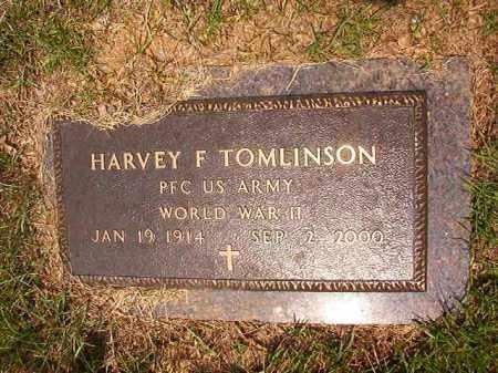 TOMLINSON (VETERAN WWII), HARVEY F - Calhoun County, Arkansas | HARVEY F TOMLINSON (VETERAN WWII) - Arkansas Gravestone Photos