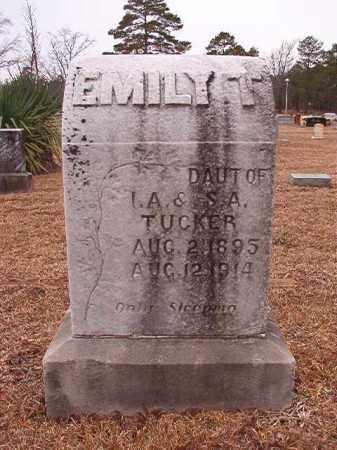 TUCKER, EMILY T - Calhoun County, Arkansas   EMILY T TUCKER - Arkansas Gravestone Photos