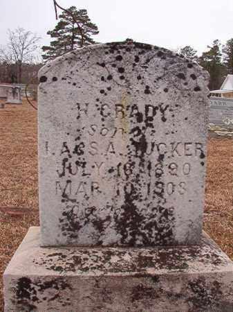 TUCKER, H GRADY - Calhoun County, Arkansas   H GRADY TUCKER - Arkansas Gravestone Photos