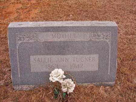 TUCKER, SALLIE ANN - Calhoun County, Arkansas   SALLIE ANN TUCKER - Arkansas Gravestone Photos