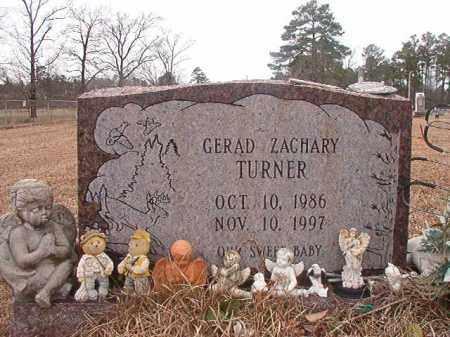 TURNER, GERAD ZACHARY - Calhoun County, Arkansas | GERAD ZACHARY TURNER - Arkansas Gravestone Photos