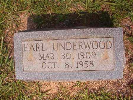 UNDERWOOD, EARL - Calhoun County, Arkansas | EARL UNDERWOOD - Arkansas Gravestone Photos
