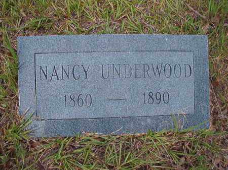UNDERWOOD, NANCY - Calhoun County, Arkansas   NANCY UNDERWOOD - Arkansas Gravestone Photos