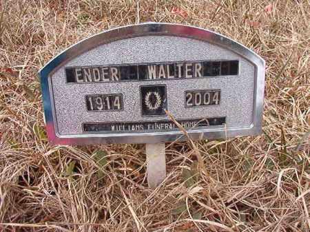 WALTER, ENDER - Calhoun County, Arkansas | ENDER WALTER - Arkansas Gravestone Photos