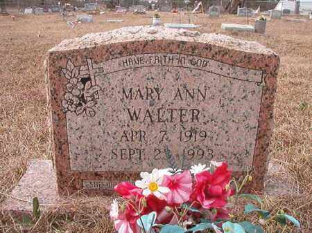 WALTER, MARY ANN - Calhoun County, Arkansas | MARY ANN WALTER - Arkansas Gravestone Photos