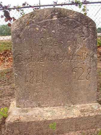 MOSLEY WORDLAW, CAROLINE - Calhoun County, Arkansas   CAROLINE MOSLEY WORDLAW - Arkansas Gravestone Photos