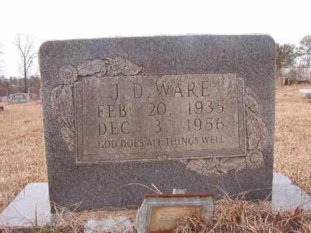 WARE, J D - Calhoun County, Arkansas | J D WARE - Arkansas Gravestone Photos
