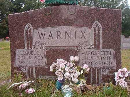 WARNIX, MARGARETT L - Calhoun County, Arkansas   MARGARETT L WARNIX - Arkansas Gravestone Photos