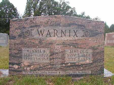 WARNIX, LIMUEL G - Calhoun County, Arkansas | LIMUEL G WARNIX - Arkansas Gravestone Photos