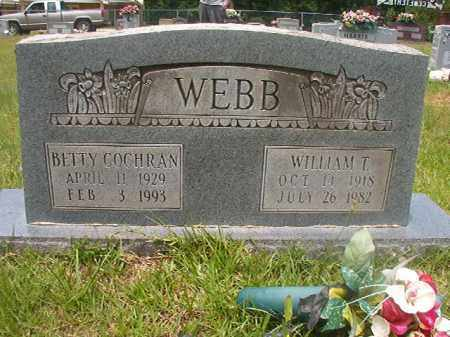 WEBB, WILLIAM T - Calhoun County, Arkansas | WILLIAM T WEBB - Arkansas Gravestone Photos