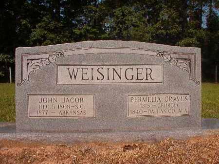 GRAVES WEISINGER, PERMELIA - Calhoun County, Arkansas | PERMELIA GRAVES WEISINGER - Arkansas Gravestone Photos