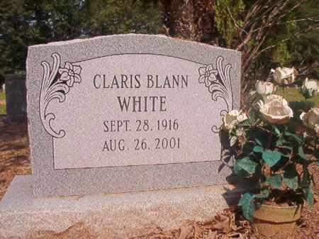 WHITE, CLARIS - Calhoun County, Arkansas   CLARIS WHITE - Arkansas Gravestone Photos
