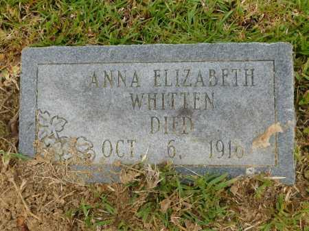WHITTEN, ANNA ELIZABETH - Calhoun County, Arkansas | ANNA ELIZABETH WHITTEN - Arkansas Gravestone Photos